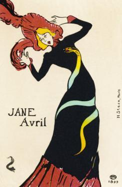 Jane Avril Music Hall Performer by Henri de Toulouse-Lautrec
