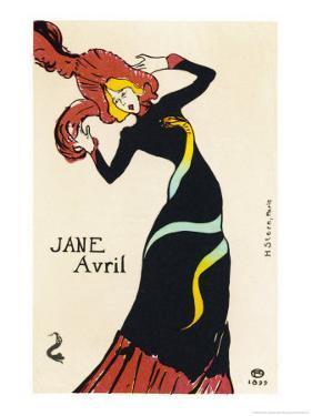 Jane Avril Music Hall Performer by Henri de Toulouse-Lautrec