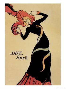 Jane Avril by Henri de Toulouse-Lautrec