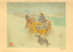 La charette anglaise by Henri de Toulouse-Lautrec