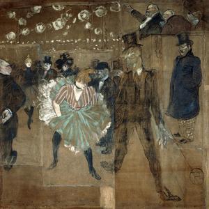 La Goulue and Valentin Le Desosse, 1895 by Henri de Toulouse-Lautrec