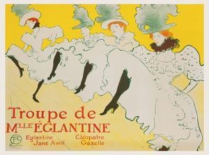 La Troupe de Mademoiselle Églantine, 1896 by Henri de Toulouse-Lautrec