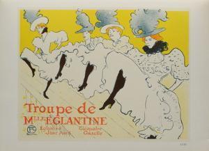 La troupe de Melle Eglantine by Henri de Toulouse-Lautrec
