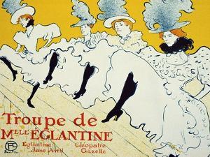 La Troupe De Mlle Églantine, 1896 by Henri de Toulouse-Lautrec