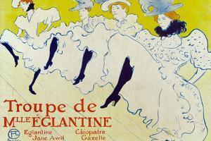 Henri de Toulouse-Lautrec La Troupe de Mlle Eglantine Plastic Sign
