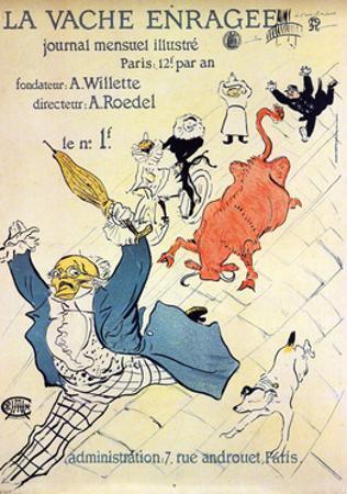 La Vache Enragée, 1896 by Henri de Toulouse-Lautrec