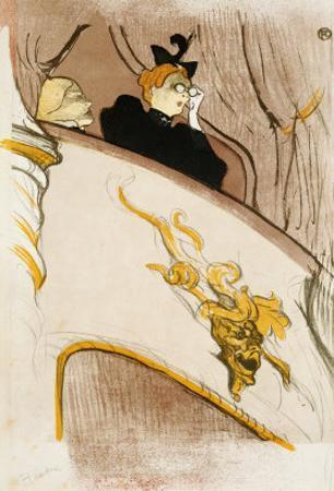 """Le Loge Au Mascaron Dore (Programme For """"Le Missionaire"""") by Henri de Toulouse-Lautrec"""