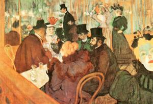 Le Moulin Rouge by Henri de Toulouse-Lautrec