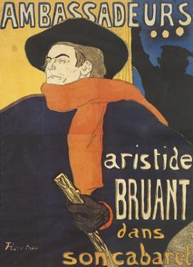 Les Ambassadeurs: Aristide Bruant by Henri de Toulouse-Lautrec