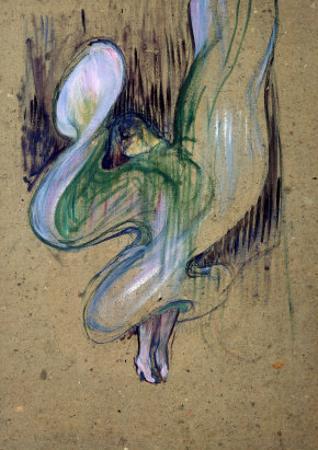Loie Fuller at the Folies Bergere by Henri de Toulouse-Lautrec