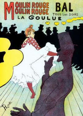 Moulin Rouge, c.1891 by Henri de Toulouse-Lautrec