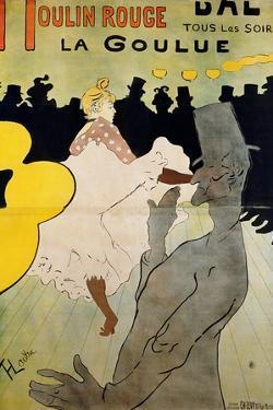 Moulin Rouge: La Goulue, 1891 by Henri de Toulouse-Lautrec