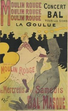 Moulin Rouge, La Goulue, 1891 by Henri de Toulouse-Lautrec