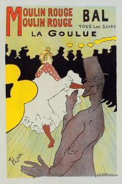 Moulin Rouge La Goulue by Henri de Toulouse-Lautrec