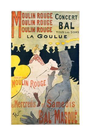 Moulin Rouge-La Goulue by Henri de Toulouse-Lautrec