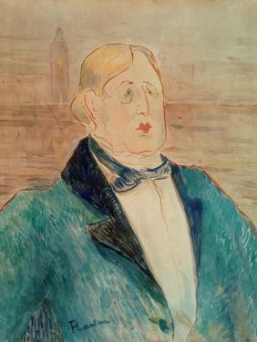 Oscar Wilde, 1895 by Henri de Toulouse-Lautrec