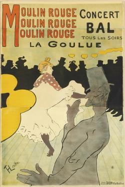Poster Advertising 'La Goulue' at the Moulin Rouge, 1891 by Henri de Toulouse-Lautrec