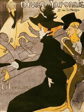 """Poster Advertising """"Le Divan Japonais"""", 1892 by Henri de Toulouse-Lautrec"""