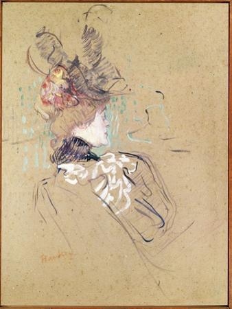 Profile of a Woman, 1896 (Oil on Card) by Henri de Toulouse-Lautrec
