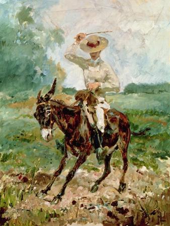 Raoul Tapie De Celeyran (1868-1937) on a Donkey