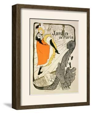 "Reproduction of a Poster Advertising ""Jane Avril"" at the Jardin De Paris, 1893 by Henri de Toulouse-Lautrec"