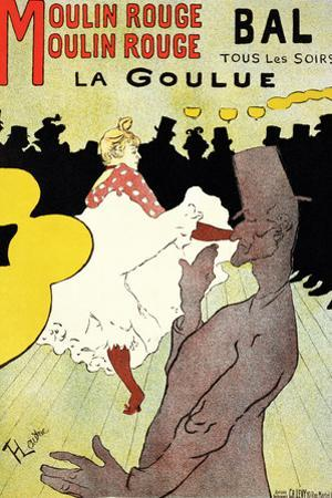 "Reproduction of a Poster Advertising ""La Goulue"" at the Moulin Rouge, Paris by Henri de Toulouse-Lautrec"