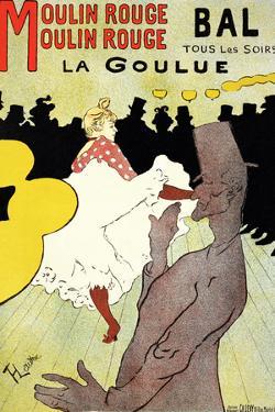 """Reproduction of a Poster Advertising """"La Goulue"""" at the Moulin Rouge, Paris by Henri de Toulouse-Lautrec"""