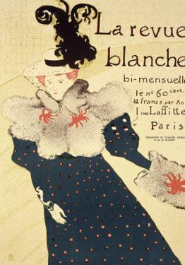 "Reproduction of a Poster Advertising ""La Revue Blanche"", 1895 by Henri de Toulouse-Lautrec"