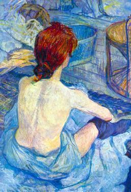 Henri de Toulouse-Lautrec Rousse the Toilet Art Print Poster