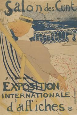 Salon des Cent-Exposition Internationale d'affiches by Henri de Toulouse-Lautrec