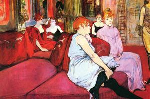 Salon in the Rue De Moulins by Henri de Toulouse-Lautrec