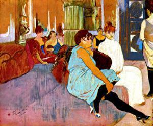Salon Rue des Moulins by Henri de Toulouse-Lautrec