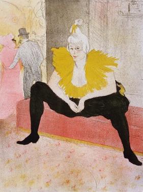 Seated Clowness, 1896 by Henri de Toulouse-Lautrec