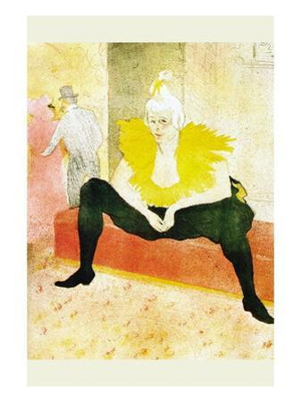 Sitting Clown by Henri de Toulouse-Lautrec