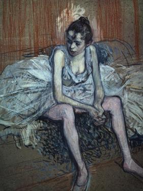 Sitting Dancer by Henri de Toulouse-Lautrec