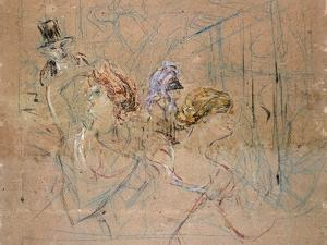 Sketch for 'At the Masked Ball', C.1892 by Henri de Toulouse-Lautrec