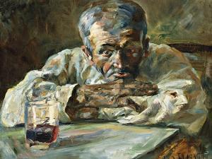The Alcoholic, Father Mathias; a La Boutique, Chateau Du Bosc: Le Buveur, Le Pere Mathias, 1882 by Henri de Toulouse-Lautrec