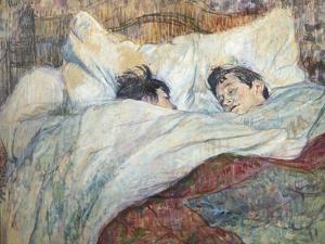 The Bed by Henri de Toulouse-Lautrec