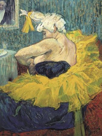 The Clowness Cha-U-Kao by Henri de Toulouse-Lautrec