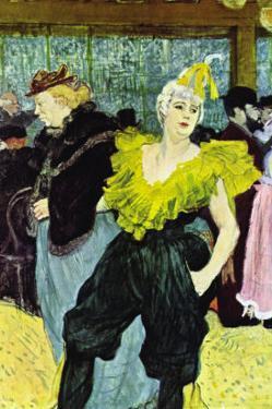 The Clowness by Henri de Toulouse-Lautrec