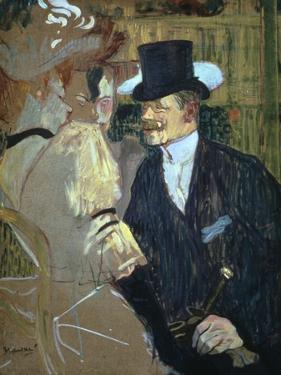 'The Englishman at the Moulin Rouge', 1892. Artist: Henri de Toulouse-Lautrec by Henri de Toulouse-Lautrec