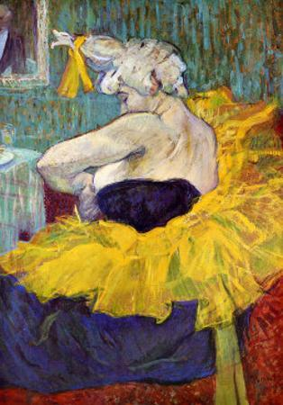 The Lady Clown Cha-U-Kao by Henri de Toulouse-Lautrec