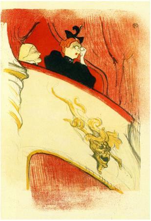 Henri de Toulouse-Lautrec The Loge with a Gold Mask Art Print Poster