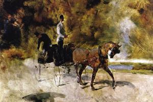 The One Horse Carraige by Henri de Toulouse-Lautrec