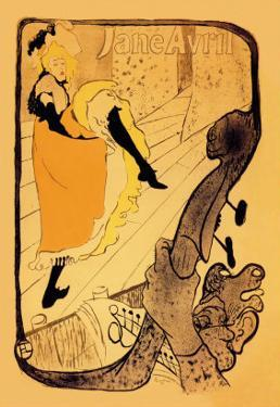 The Performance of Jane Avril by Henri de Toulouse-Lautrec