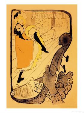 The Performance of Jane Avril by Henri de Toulouse-Lautrec