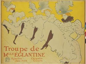 The Troupe of Mademoiseele Eglantine, 1896 by Henri de Toulouse-Lautrec