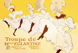 Troupe de Mille Eglantine by Henri de Toulouse-Lautrec