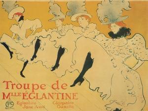 Troupe de Mlle. Eglantine, c.1896 by Henri de Toulouse-Lautrec
