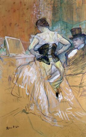"""Woman at Her Toilet, Study for """"Elles"""", circa 1896 by Henri de Toulouse-Lautrec"""